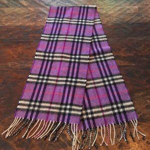 7994df5c3 Burberry Accessories - Purple Black & White Burberry cashmere scarf